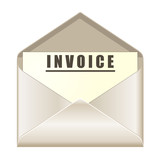 envelope with invoice document poster