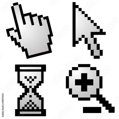 Pixelated computer cursors