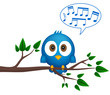 obraz - Blue bird sitting ...