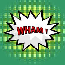 Wham! nuage comique dans le style pop art