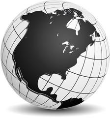 North America Globe
