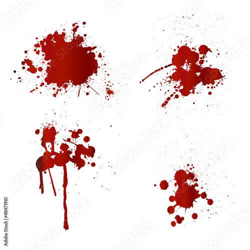 Blood splatters - 48471961