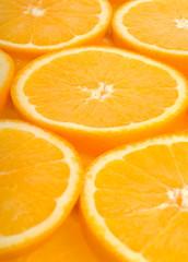 Orange background, vertical.
