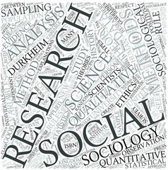 Social research Disciplines Concept