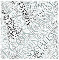 Socialist economics Disciplines Concept