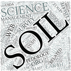 Soil science Disciplines Concept