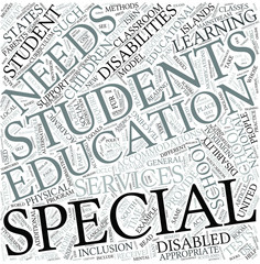 Special education Disciplines Concept