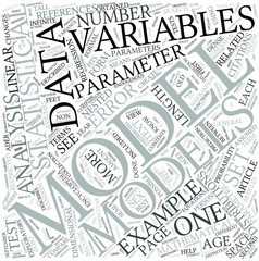 Statistical model Disciplines Concept