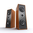 powerful wooden speakers