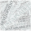 Sustainable development Disciplines Concept