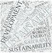 Sustainable development Disciplines Concept