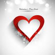 Valentine's day card vector white background