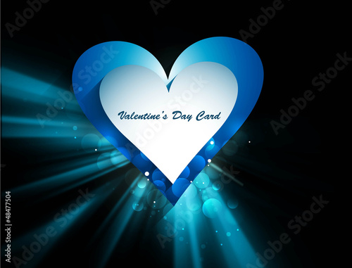 Beautiful hearts Valentine's day or Wedding wave vector