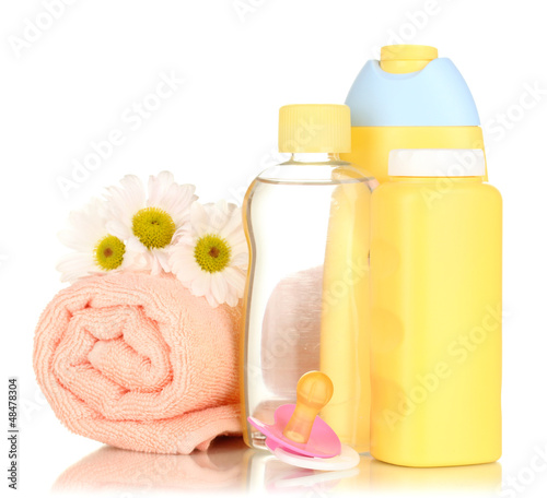 Baby cosmetics isolated on white