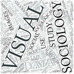 Visual sociology Disciplines Concept