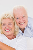 Close up of an elderly couple portrait