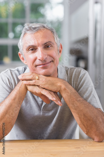 Portrait of serene man looking at camera
