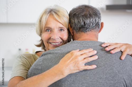 Embracing couple dancing