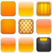 Orange app icons.