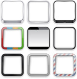 Fototapety Blank app icons.