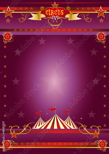 Circus purple poster