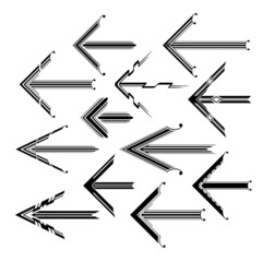 Set of graphical vintage arrows