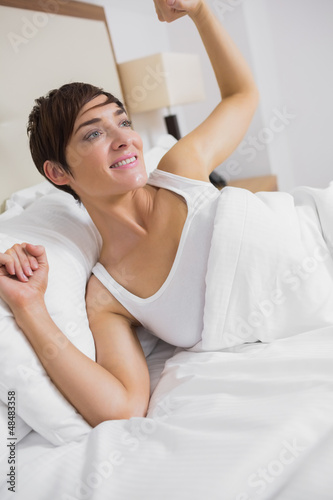 Woman waking up