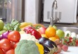 Vegetables and fruits in the kitchen