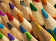 Colorful pencil tips