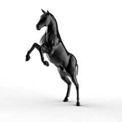 Illustration of a black horse isolated on a white background