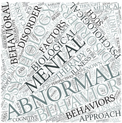 Abnormal psychology Disciplines Concept
