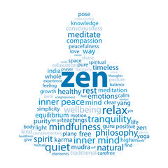 """ZEN"" Tag Cloud (buddha meditation lotus position relaxation)"