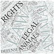 Animal law Disciplines Concept