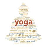 """YOGA"" Tag Cloud (zen meditation lotus position relaxation)"