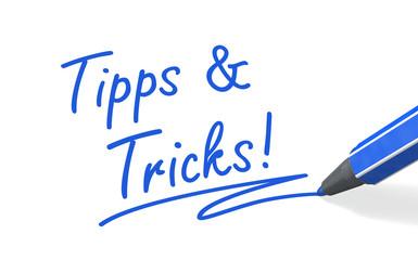 Stift- & Schriftserie: Tipps und Tricks! blau