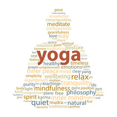 """YOGA"" Tag Cloud (zen meditation lotus position relaxation)"