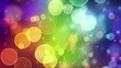 multicolor circle bokeh lights seamless loop background