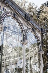 Madrid Palacio de Cristal in Retiro Park,Spain