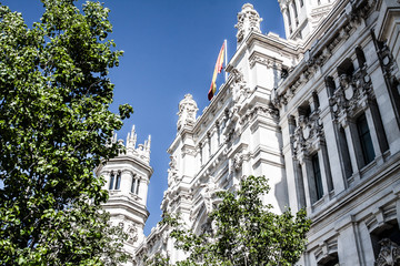 Palacio de Comunicaciones at Plaza de Cibeles in Madrid,Spain