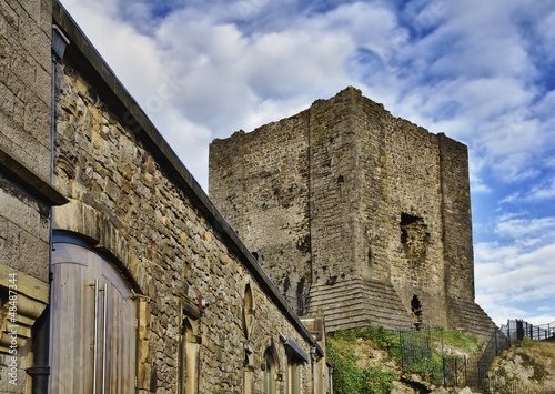 View of Clitheroe Castle, Lancashire.