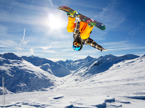 Foto op Aluminium Wintersporten flip