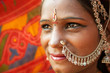 Traditional Indian woman closeup