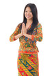 Southeast Asian woman greeting