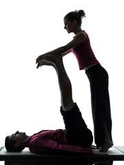 feet legs thai massage silhouette
