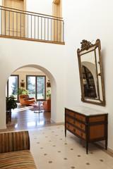 beautiful apartment, interior, corridor with antique furniture