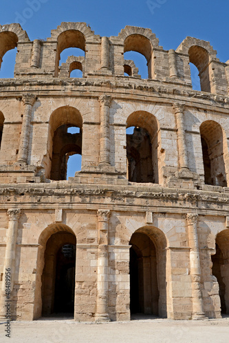 Roman amphitheater in the city of El Jem - Tunisia, Africa