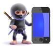 Ninja by a smartphone