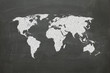 world map on chalk board