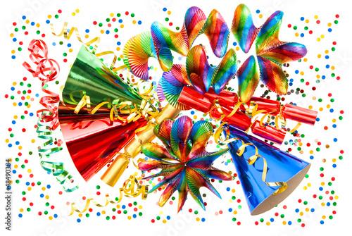 Karneval dekoration girlanden luftschlangen und for Dekoration karneval