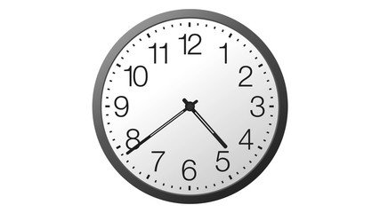 Animated realistic clock. 24 hours time lapse.